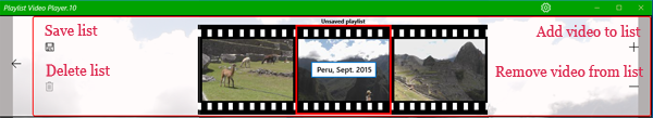 Playlist Video Player